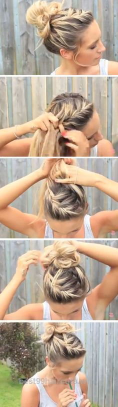 Incredible Easy DIY Hairstyles for The Beach | Messy Bun The post Easy DIY Hairstyles for The Beach | Messy Bun… appeared first on 99Haircuts .