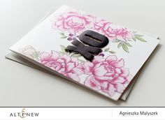 A floral background card using new Altenew inks