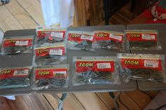 Fishing Accessories Lures Zoom Baits 10 Packages All New Value Priced 100+ PC #Zoom