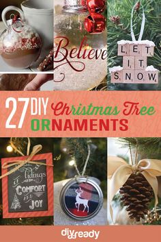 27 Spectacularly Easy DIY Christmas Tree Ornaments, see more at http://diyready.com/spectacularly-easy-diy-ornaments-for-your-christmas-tree