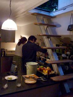ღღ Grand Union Canal - Matt & Zoe in the kitchen Houseboat Living, Canal Boat, Bliss, London, Houseboats, Groot, Kitchen, Interiors, Stylish