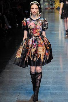 Dolce & Gabbana Fall 2012 Ready-to-Wear Fashion Show - Karlina Caune
