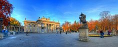 Łazienkowski park Łazienki Palace Warsaw autumn evening HDR panorama by Rich pick, via Flickr