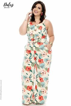 Plus Size Romper, Plus Size Jumpsuit, Plus Size Dresses, Plus Size Outfits, Plus Size Summer Outfit, Mode Plus, Full Figure Fashion, Jumpsuit Pattern, Plus Size Girls