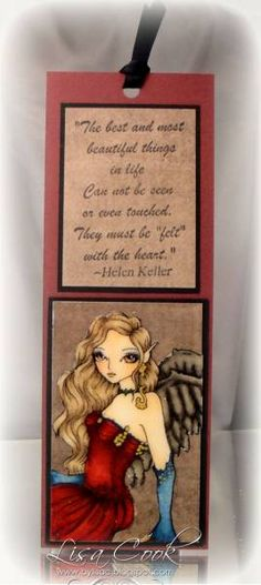 Fairy Bookmark by busysewin - Cards and Paper Crafts at Splitcoaststampers