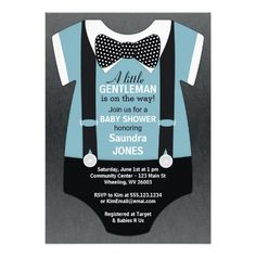 Bow Tie Baby Shower Invitation Suspender Invite For Men