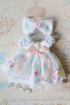 Blythe Mint Blue Dress Blythe outfit Blythe Lace by TeaForParty