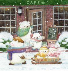 Animal Drawings, Cool Drawings, Bear Drawing, Bear Art, Cute Doodles, Cute Chibi, Kawaii Art, Cute Bears, Cute Creatures