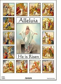 Stations of the Cross Sticker Set (1 sheet) . $1.99. Description: Beautiful full color set -17 stickers per sheet - depicts the Stations of the Cross. Great for craft projects, Lenten projects, CCD, homeschooling etc...  This is for **one full sheet** of stickers