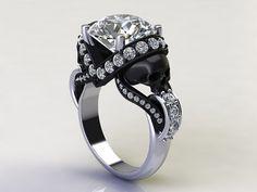 http://rubies.work/1012-citrine/ sapphire studios direct 'Aphrodite' 1.70ct Certified Natural Diamond Skull White Gold Engagement Ring