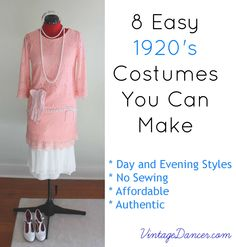 8 Easy Costumes You Can Make DIY Not bad, these look neat. Flapper Costume Diy, 1920 Costumes, Roaring 20s Party, 1920s Party, 1920s Wedding, Gatsby Party, 1920 Outfits, Downton Abbey Costumes, 1920s Theme