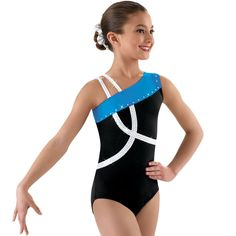One Shoulder Crisscross Gymnastics Leotard; Balera