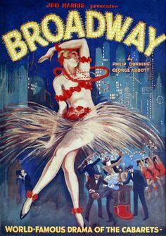 Vintage Poster - Jed Harris presents Broadway - 1926 Cabaret Theatre Production