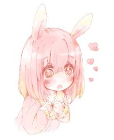 cute anime kawaii manga pink so cute bunny rabbit girl manga girl bunny girl rabbit