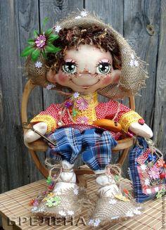 Купить Текстильная кукла Домовой Мафаня.. - ярко-красный, интерьерная кукла, текстильная кукла