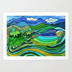 SPRING KINGDOM Art Print by Pete Boardman - $20.00