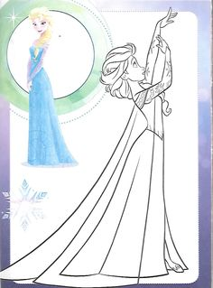 Frozen Coloring Pages, Princess Coloring Pages, Coloring Book Pages, Printable Coloring Pages, Coloring Pages For Kids, Adult Coloring, Costume Design Sketch, Disney Paintings, Disney Princess Frozen