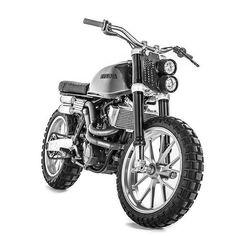 Oh Lord:  KTM #640LC4 (w/Honda CB650 tank) by @engineeredtoslide. : @dean_walters. #ktm640 #supermoto #scrambler