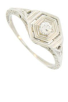 Antique-inspired engagement ring...Maybe someday