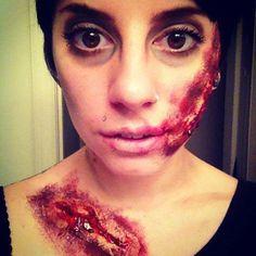My zombie halloween makeup.