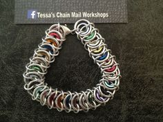 Focus! chainmail armband. FB: Tessa's chainmail workshops