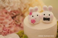 Bunny and Rabbit wedding cake topper
