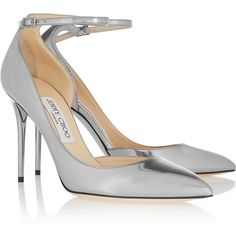 Jimmy ChooLucy Metallic Leather Pumps (€355) ❤ liked on Polyvore featuring shoes, pumps, heels, heel pump, jimmy choo pumps, jimmy choo, metallic leather pumps and genuine leather shoes