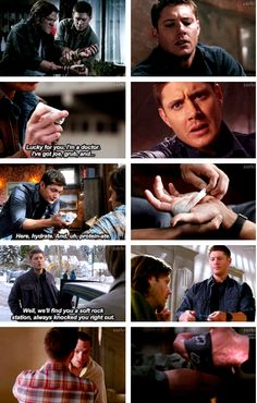 Dean taking care of Sam. GIFset