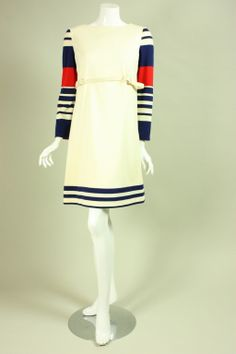 1960's Cardinali Striped Dress Ensemble | From a collection of rare vintage day dresses at http://www.1stdibs.com/fashion/clothing/day-dresses/