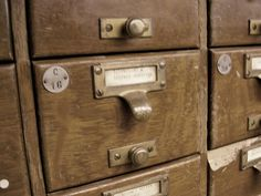 Card catalog drawer