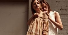 """[dropcap custom_class=""""normal""""]T[/dropcap] he Chloé aesthetic is certainly my aesthetic. I love the independent yet girly vibe of  the brand. And the Resort Collection for 2016 fully embraces this aesthetic and adds a new bohemian twist to the looks. From the over-sized flare jeans to the studded man tailored trousers to the flowing eyelet dresses and repeated use of leopard print, the line straddles the fence between boho chic and London Mod Carneby Street style."""