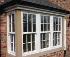 Image - Taking Advantage of the Latest Sash Windows for Your House Upvc Windows, Dormer Windows, Sash Windows, Windows And Doors, D House, House Front, Bay Window Exterior, Bay Window Living Room, Square Windows