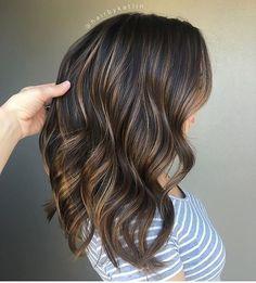 Ooo la la! Brunette balayage by @hairbykatlin  #hair #hairenvy #hairstyles…
