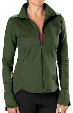 This Rockin' jacket will rock your wardrobe! Flattering princess seams in front and back, tulip curves form sleeve and front hemlines, and zip hide-away front pockets. High neck for warmth plus past-hip length for coverage equals added comfort. http://www.activewearusa.com