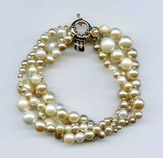 OOAK RePurposed Mixture Faux Pearl Vintage Beads by holyinspired, $34.95