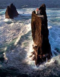 Lighthouse in Pridrangar (Iceland)