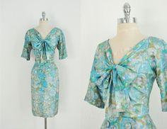 50s silk dress