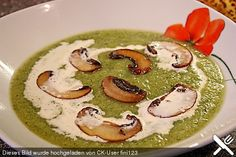 Zucchini - Champignon Rahmsuppe