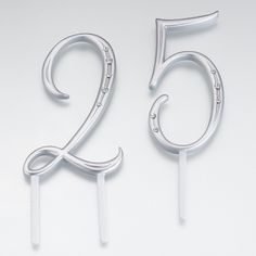 Silver Monogram Cake Number Cake Topper - 2 numbers -- You can get more details at : baking decorations Letter Cake Toppers, Number Cake Toppers, Monogram Cake Toppers, Number Cakes, Custom Wedding Cake Toppers, Rhinestone Wedding, Silver Rhinestone, 60th Anniversary Cakes, Wedding Anniversary
