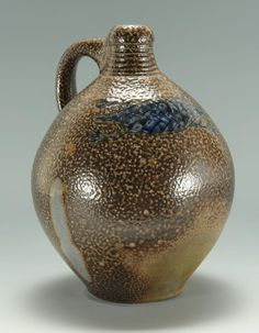 Mark Hewitt Jug with Cobalt Salamander