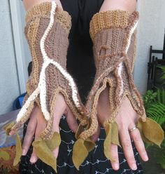 Tree Gauntlets, 2, via Flickr. (Part of the cutest tree costume EVAR)