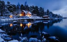 Nature Wallpaper: Winter Night Wallpaper Full HD for HD Winter Wallpaper Hd, Home Wallpaper, Computer Wallpaper, Nature Wallpaper, Wallpaper Backgrounds, Norway Wallpaper, Scenery Wallpaper, Custom Wallpaper, Christmas Wallpaper
