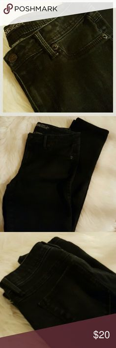 """STONE LOVE BLACK JEANS Soft stretchy black jeans, gently used. Good condition. Length is 40"""" from top and 30"""" from crotch area or inseem.  BUNDLE AND SAVE AN EXTRA 20%. FREE GIFT WITH PURCHASE. Stone Love Jeans Straight Leg"""