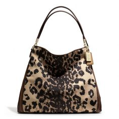 The Madison Phoebe Shoulder Bag In Ocelot Print Fabric from Coach