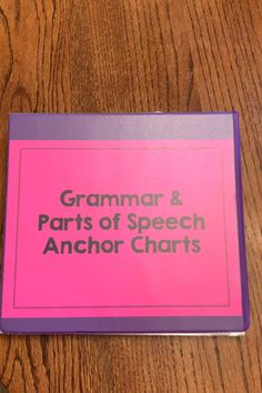 Grammar & Parts of Speech Anchor Charts Teaching English Grammar, Grammar Skills, English Writing Skills, Grammar Lessons, English Language Learning, Writing Lessons, English Lessons, Parts Of Grammar, Easy Grammar
