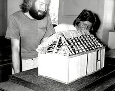 Early hut thatching, Somersby Project, 1972