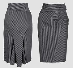 Pattern and instructions for this high waisted pencil skirt, site in russian and doesnt translate to english, but many pictures