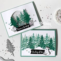 Stampin' Up! Artisan Design Team Blog Hop – In The Pines Bundle | Birdwing Paper Designs