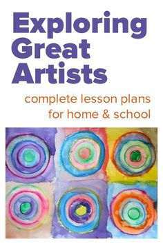 Exploring Great Artists :: complete art lesson plans Exploring Great Artists, famous art lessons for children, elementary art lesson plans famous artists Kunst Picasso, Picasso Art, Elementary Art Lesson Plans, Preschool Art Lessons, Art Doodle, Artist Project, Ecole Art, Kindergarten Art, Middle School Art