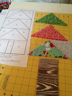 Quilt Story Holiday Tutorial Series Modern Paper Piecing Christmas Tree Pillow A Tutorial by Melissa